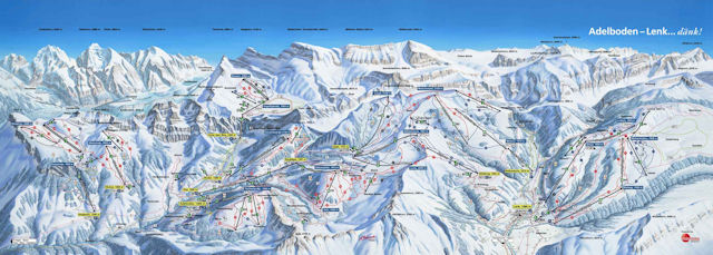 Ski and Snowboard on the pistes at Adelboden