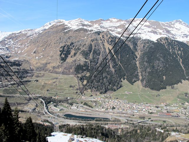 View of winter sports resort in Ticino