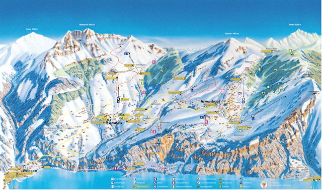 Ski and Snowboard using the Amden trail map