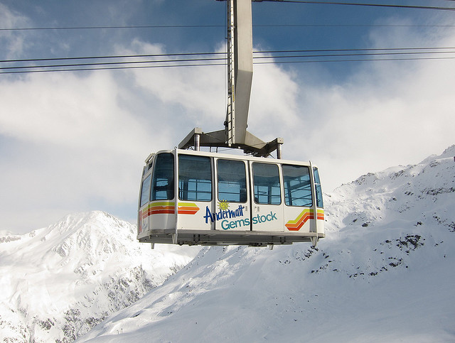 Gemsstock Cable Car at Andermatt