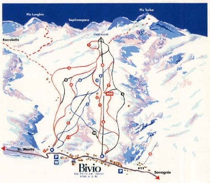 Ski and Snowboard using the Bivio trail map