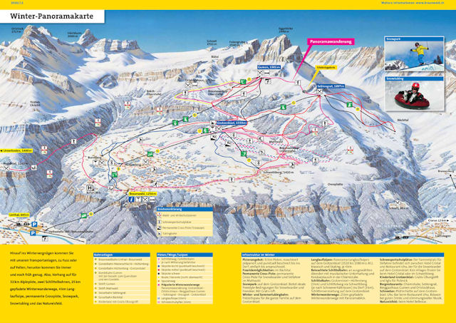 Ski and Snowboard using the Braunwald trail map