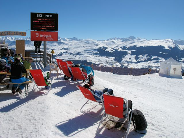 View of winter sports resort in Graubünden