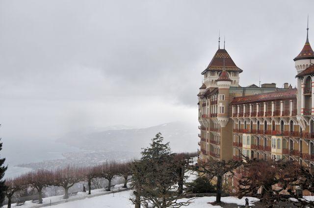 View of winter sports resort in Vaud