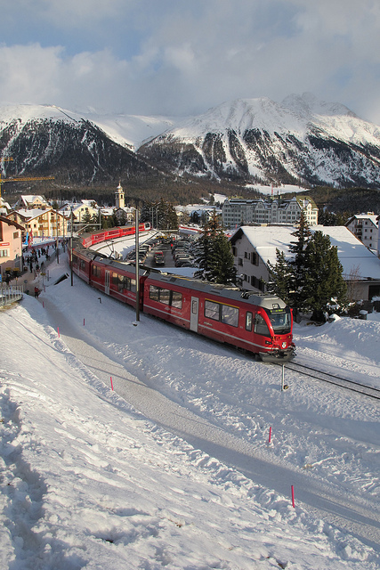 Take the train to the Alps for a perfect winter sports holiday.