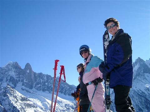 View of winter sports resort in Haute-Savoie