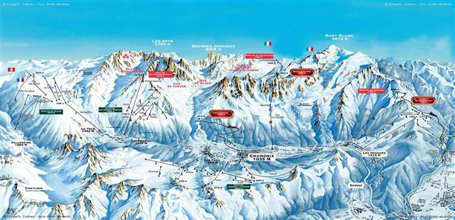 Ski and Snowboard using the Chamonix trail map