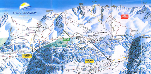 Ski and Snowboard using the Chandolin trail map