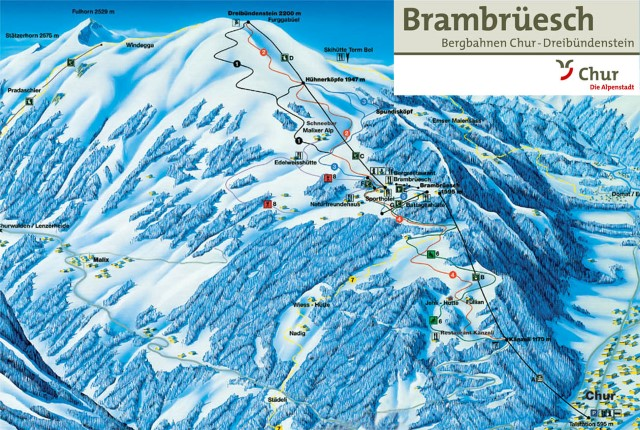 Ski and Snowboard using the Chur trail map