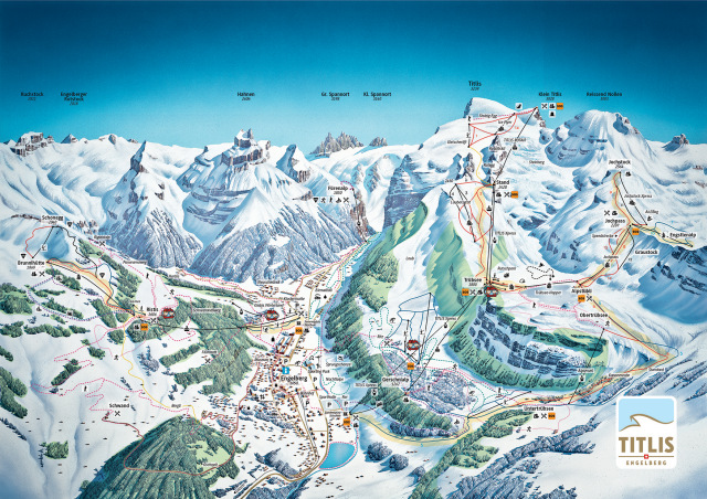 Ski and Snowboard using the Engelberg trail map