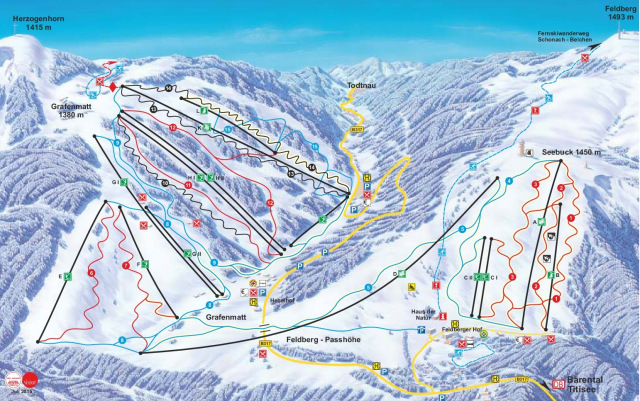 Ski and Snowboard using the Feldberg trail map