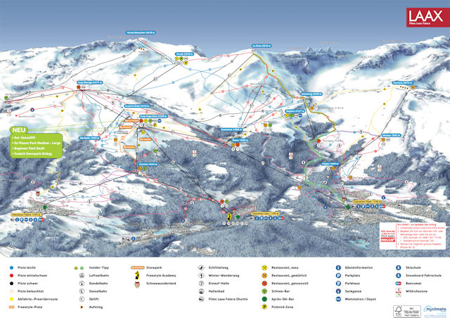 Ski and Snowboard on the pistes at Flims Laax Falera