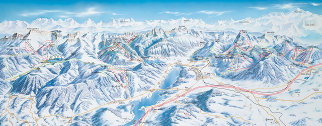 Ski and Snowboard using the Fribourg Region trail map