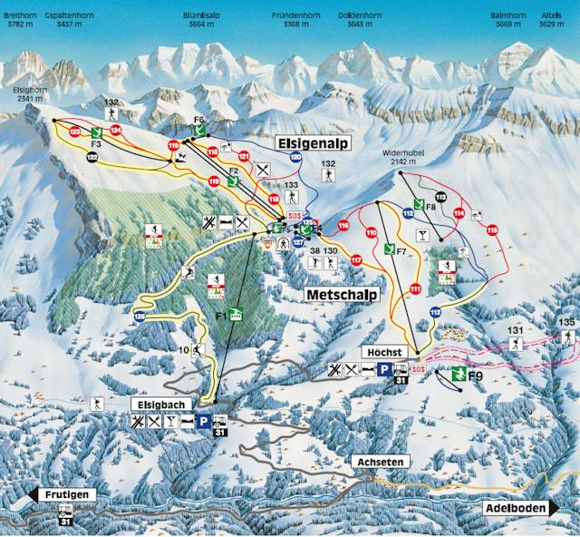 Ski and Snowboard using the Frutigen trail map
