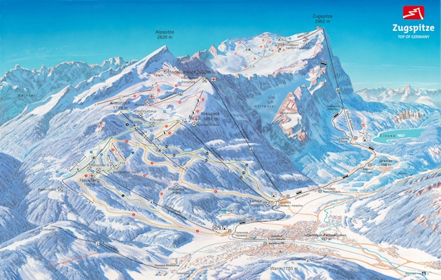 Ski and Snowboard using the Garmisch-Partenkirchen trail map