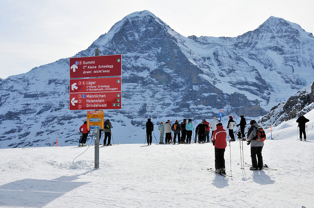 Ski Grindelwald by train