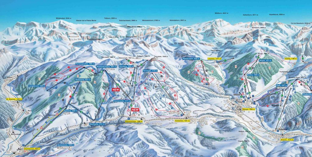 Ski and Snowboard using the Gstaad trail map