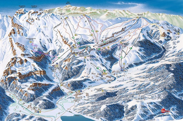 Ski and Snowboard using the Hoch-Ybrig trail map