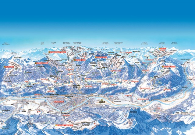 Ski and Snowboard using the Innsbruck trail map