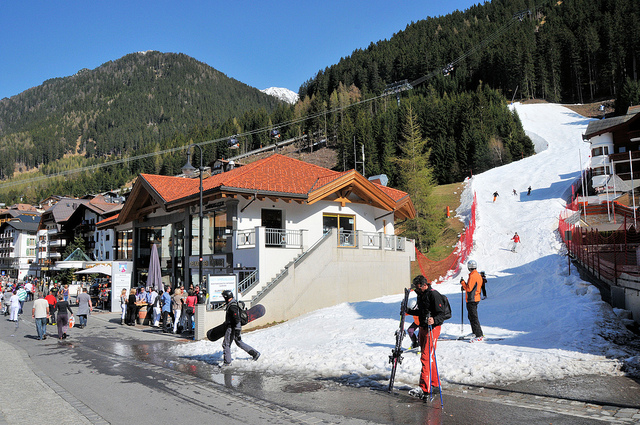 View of winter sports resort in Tyrol