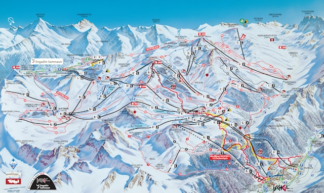 Ski and Snowboard using the Ischgl trail map
