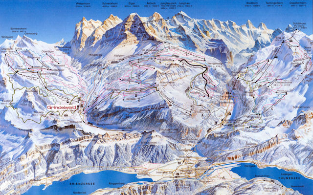 Ski and Snowboard using the Jungfrau Region trail map