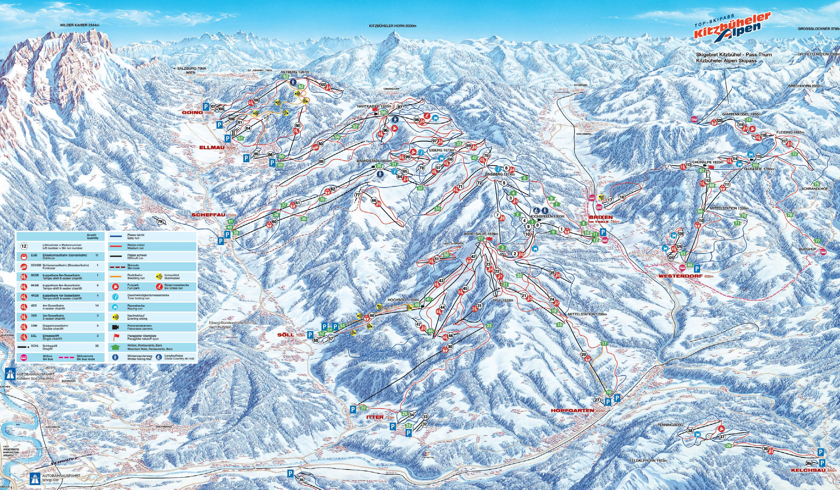 Kitzbhel ski resort airport transfers Alps2Alps