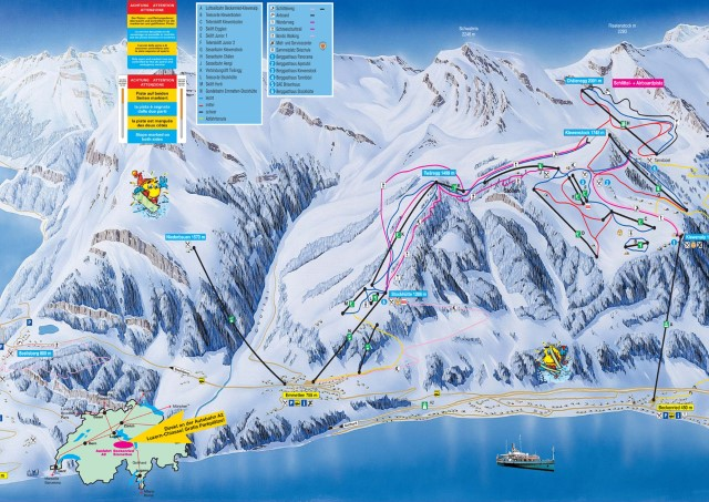 Ski and Snowboard using the Klewenalp trail map