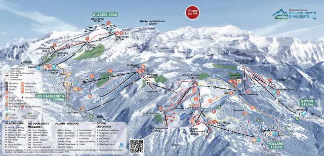Ski and Snowboard using the Les Diablerets trail map