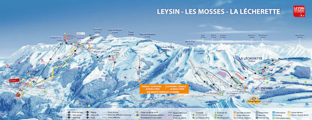 Ski and Snowboard using the Leysin trail map
