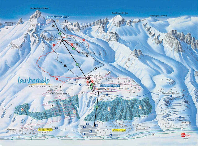 Ski and Snowboard using the Lötschental trail map
