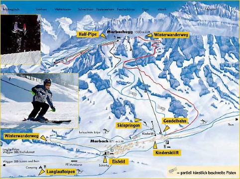 Ski and Snowboard using the Marbach trail map