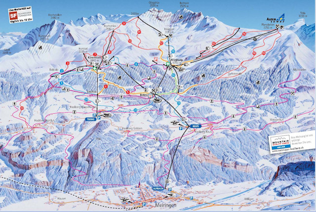 Ski and Snowboard on the pistes at Meiringen