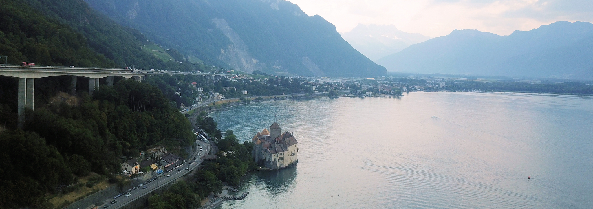 Montreux on the shores of Lake Geneva is also in the heart of the Alps
