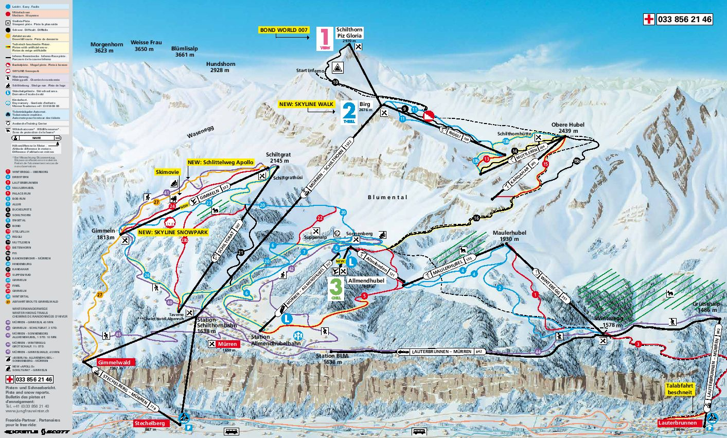 Ski Mrren by train take the railway to ski or snowboard in