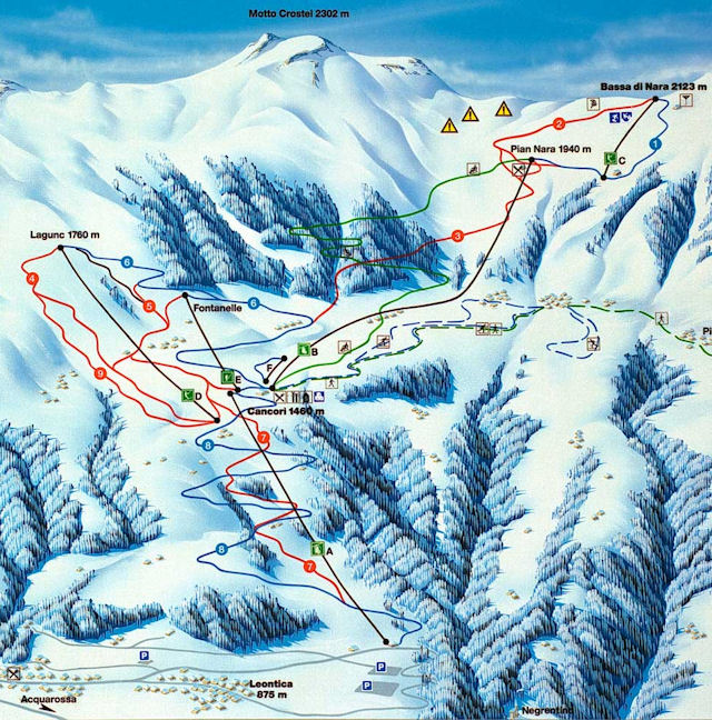 Ski and Snowboard using the Nara trail map