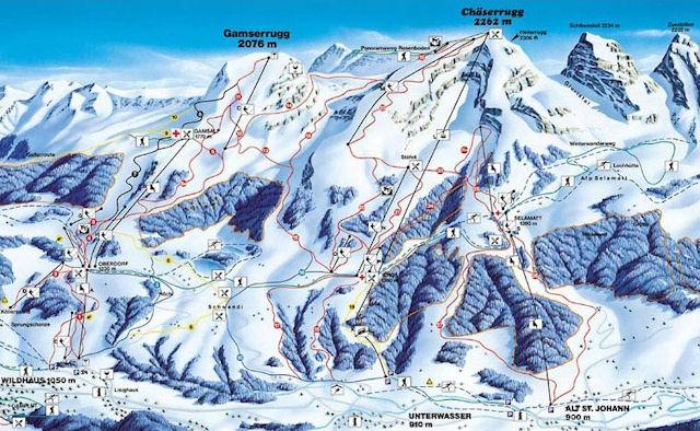 Ski and Snowboard using the Obertoggenburg trail map