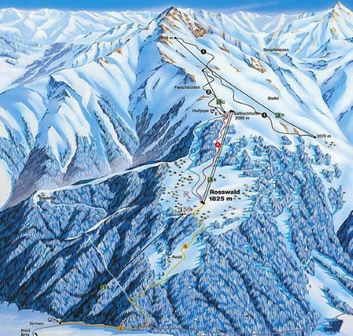 Ski and Snowboard using the Rosswald trail map