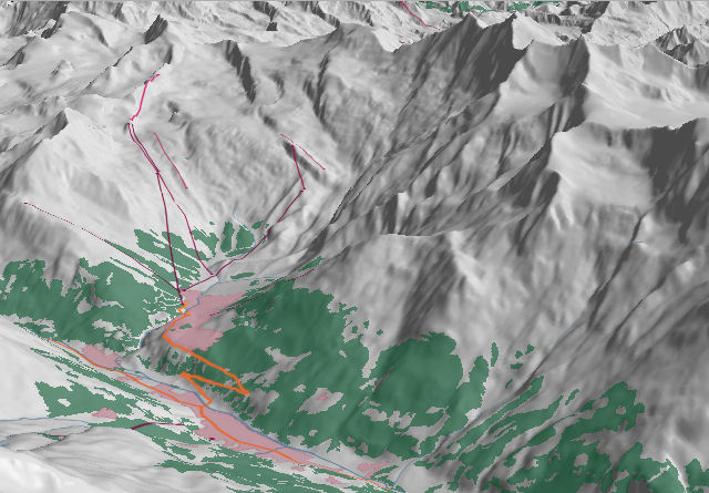 3D view of saas-fee
