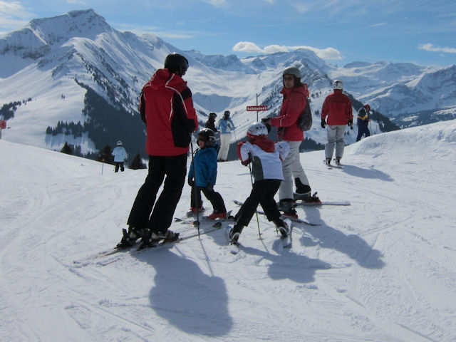View of winter sports resort in Bern