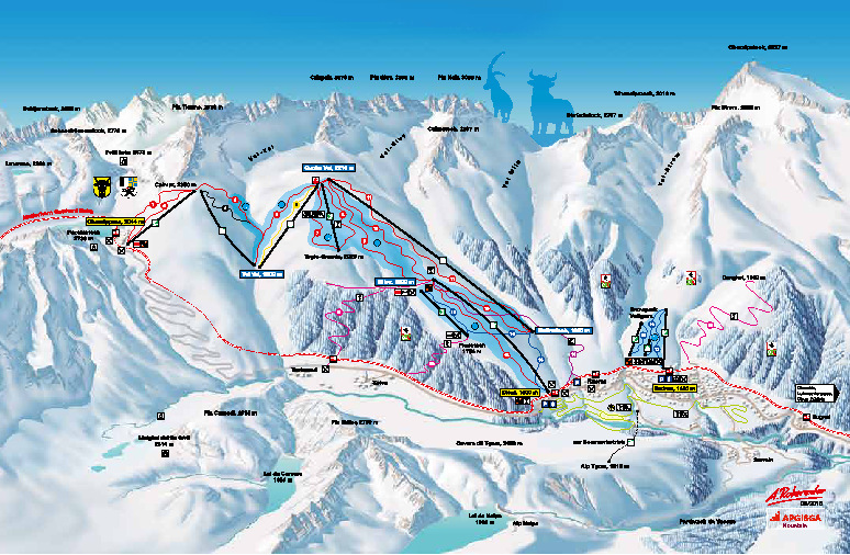 Ski and snowboard Sedrun winter sports in and near Skiarena