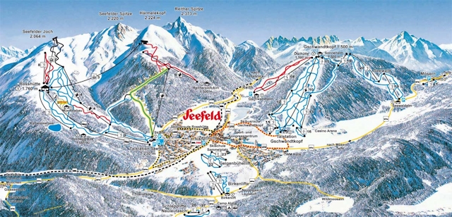 Ski and Snowboard using the Seefeld trail map