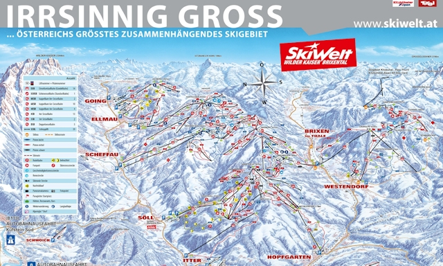 Ski and Snowboard on the pistes at Brixen im Thale