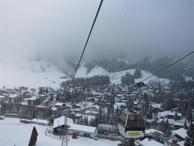 View of winter sports resort in Luzern