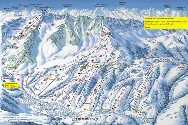 Ski and Snowboard using the Sörenberg trail map