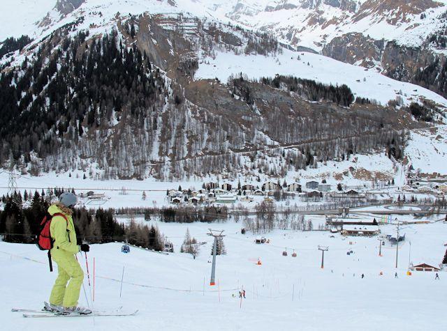 View of winter sports resort in Graubünden