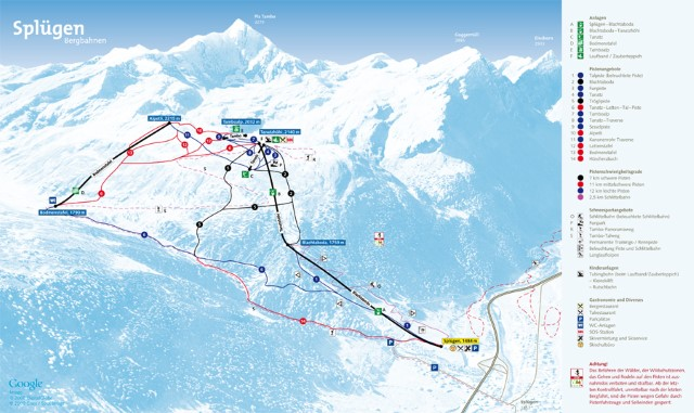 Ski and Snowboard using the Splügen trail map