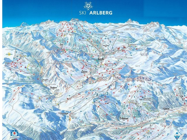 Ski and Snowboard using the St Anton trail map