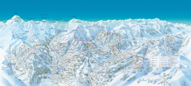 Ski and Snowboard using the St-Gervais trail map