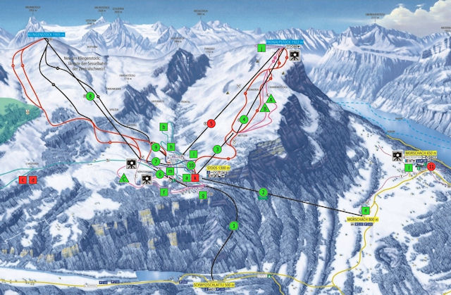 Ski and Snowboard using the Stoos trail map